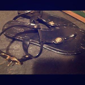 Coach sandals, size 10